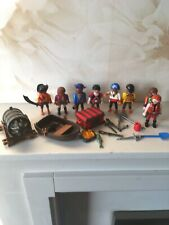 Playmobil Pirate Figures Including Firing Cannon Rowing Boat Joblot