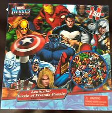 Lenticular Circle of Friends Puzzle - Marvel Heroes Nib Factory Sealed
