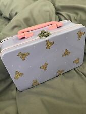 Vintage Sanrio 1988 1980's Teddy Bear Tin Case Carrying Case Stationery