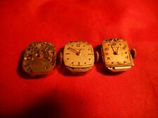 WITTNAUER 5S WATCH MOVEMENT LOT 3 MOVEMENTS FOR REPAIR PARTS AS-IS LOT !