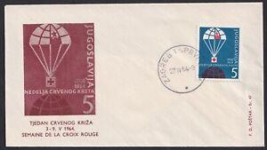 Yugoslavia, 1964, Red Cross, Tax obligatory stamps, rare FDC (Zagreb)