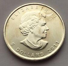2011 CANADA MAPLE LEAF 5 DOLLAR PROOF SILVER .9999 1 OZ COIN