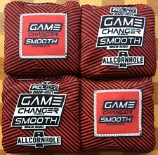 Game Changer Smooth Cornhole Bags Red/Black ACL PRO 2020/2021 Stamp - In Hand