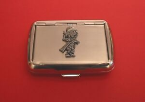Mad Hatter Motif Tobacco Tin Box Performing Arts Alice in Wonder Land Enthusiast