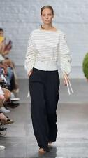 SS17! Tibi Striped Shirting Sculpted Boatneck Top size US 00, 4, 12