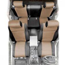 Smittybilt Black/Tan Front + Rear Pair Neoprene Seat Covers, Jeep JK 2007 4-DR