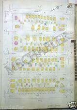 Original 1931 Newark New Jersey NJ  Sanborn Atlas Maps (2) Ridge - Degraw Ave.