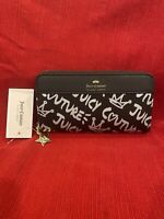 NWT Juicy Couture Streetwise Wallet Black / Silver