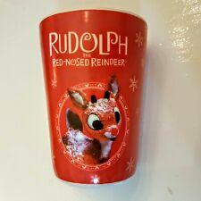 """Dan Dee Plastic Cup Rudolph Red Nosed Reindeer 4"""" Children's Tumbler Juice Glass"""