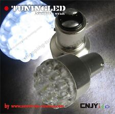 2 ampoule 19 led Blanc,feux stop/veilleuse P21/5W 2 contacts ! modèle polarisé