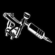 Tattoo Gun Vinyl Window Decal Bumper Sticker
