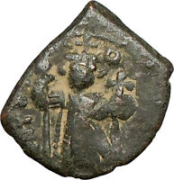 CONSTANS II 641AD Rare BYZANTINE Genuine Ancient Coin Large m  i24139