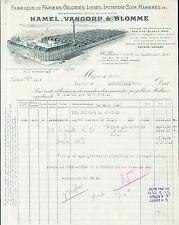 Dépt 59 - Halluin - Belle Papeterie HAMEL, VANGORP & BLOMME du 15/09/1947