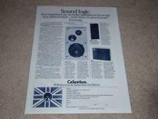 Celestion Ditton 33,15XR,UL6 Speaker Ad,1975,Full Info