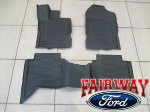 20 thru 21 Ranger OEM Ford Tray Style Molded Rubber Floor Mat Set 4-pc CREW CAB