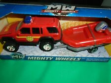 Mighty Wheels Fire Rescue Vehicle with Rescue Boat 2013 Diecast