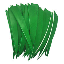 Archery Fletches 5inch Shield Cut Green Traditional Feather Fletching RW - 50PCS