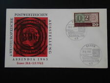 stamp on stamp 125 years of first stamp FDC 1965 Germany 66520