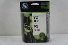 HP 92 Black & 93 Color Genuine Ink Cartridges 2-Pack EXP 04/2021 (1 Opened)