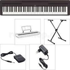 Yamaha P45 B Digital E-Piano mit X-Stativ + Netzteil + Notenablage + Fußschalter