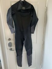 Billabong Absolute Black Wetsuit Men's XL Short 3/2 No Handle For Zipper.