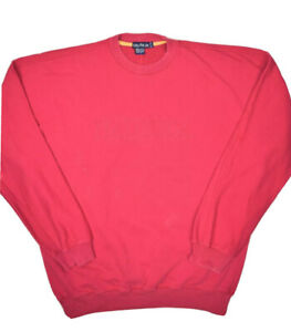 Vintage Nautica Crewneck Sweatshirt Mens XL Red Pullover Spell Out Sailing
