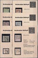 X2231/ NORTHERN GERMANY – MI # 8 – 12 – 13a – 19 – 22 – 25 USED – CV 295 $