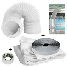 Window Seal + Hose 4 Metre Zip Vent Kit for Portable Air Conditioning Sealing