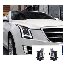 For Cadillac ATS LED Headlights LED DRL 13-19 Replace OEM Halogen Sequential