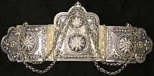 Antique Vintage Ottoman Turkish 900 Silver Repousse Chased Belt Buckle Greek Old