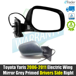 For Toyota Yaris 06-11 ELECTRIC Wing Mirror Door Primed Drivers Side Right RH OS