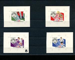 Tonga 1994 Soccer/Football World Cup Scott 864a-b+865a-b IMPERF CHROMALIN PROOFS