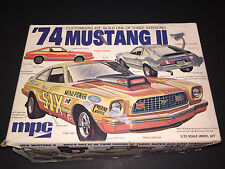 MPC '74 Mustang II 1/25 Box Parts & Decals Incomplete