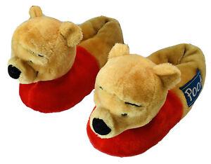 Winnie The Pooh Bear Disney Plush Stuffed Animal Slipper Shoe Size 7-8 (Medium)
