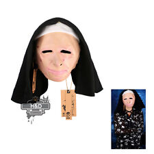 Movie Nun Latex Scary Halloween Mask Masquerade Fancy Party Costume Dress Props