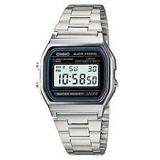 Casio Uhr A158WA-1DF Retro Digitaluhr Armbanduhr Herren Damen Schwarz NEU & OVP