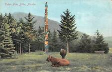 TOTEM POLE SITKA ALASKA POSTCARD (c. 1910)