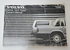 1986 VOLVO 740 GL GLE TURBO OWNERS MANUAL