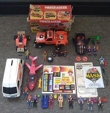 Vintage Kenner M.A.S.K. Firecracker, Slingshot, Raven Huge Figure & Vehicle Lot!