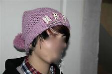 bonnet à pompon tricot mauve NAPAPIJRI GEOGRAPHIC taille 2 (S) TOUT NEUF