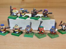10 CLASSIC METAL WARHAMMER DWARF THUNDERERS PAINTED (387)
