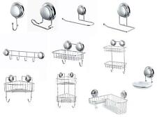 Super Suction Cup NO DRILLING Bathroom Shower Wall Storage Accessories