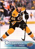 2016-17 Upper Deck Series Two Hockey UD Canvas #C127 David Krejci