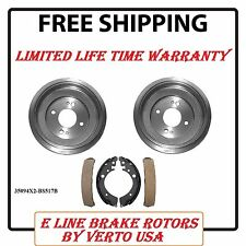 Brake Drums & Shoes Complete Set  For Honda Civic 2001-2005 , 35094X2-BS517B