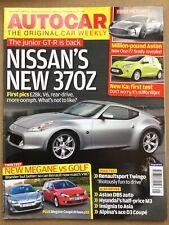 Autocar Magazine - 5 November 2008 - Nissan 370Z Megane v Golf Ford Ka AM One-77