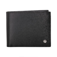 [Mont Blanc] 114686 Westside Men's Small Leather Wallet 6CC Black ⭐Tracking⭐