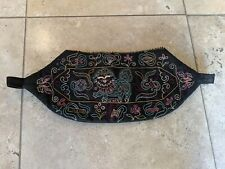Unique Antique Chinese Handmade and Embroidery Black Cotton Pouch Bag