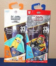 """2 NEW X-KITES 33"""" INFLATABLE POLY KITES MINION DESPICABLE ME & TRANSFORMERS NEW"""
