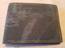 bifold wallet men, Jean's blue