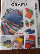 CRAFT SEWING PATTERN M4738 FLEECE ITEMS PILLOW COVER EYE  WATER BOTTLE COVER